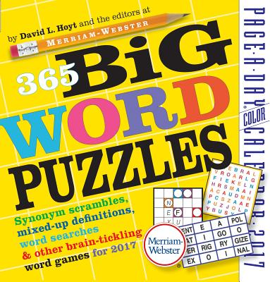 365 Big Word Puzzles Page-A-Day Calendar 2017 Cover Image
