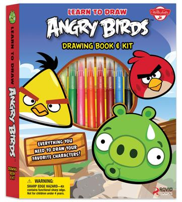 Learn to Draw Angry Birds [With Protractor and Double-Sided Colored Pencils and Eraser and Sharpener and Marker and Paper] Cover