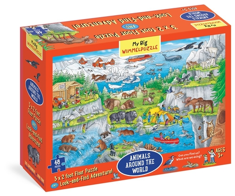 My Big Wimmelpuzzle—Animals Around the World Floor Puzzle, 48-Piece Cover Image