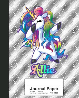 Journal Paper: ALLIE Unicorn Rainbow Notebook Cover Image