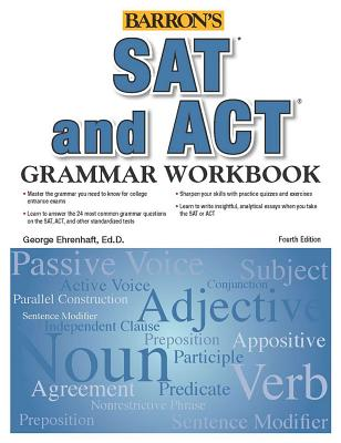 SAT and ACT Grammar Workbook (Barron's Test Prep) Cover Image