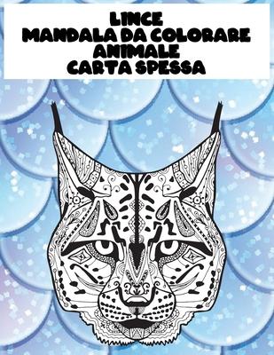 Mandala da colorare - Carta spessa - Animale - Lince Cover Image