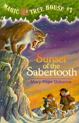 Magic Tree House #7: Sunset of the Sabertooth Cover Image