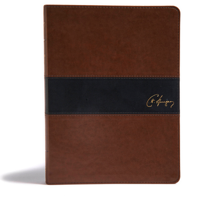 Cover for KJV Spurgeon Study Bible, Brown/Black LeatherTouch
