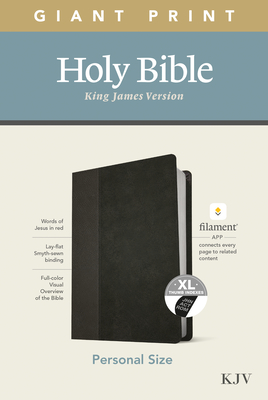 KJV Personal Size Giant Print Bible, Filament Enabled Edition (Leatherlike, Black/Onyx, Indexed) Cover Image