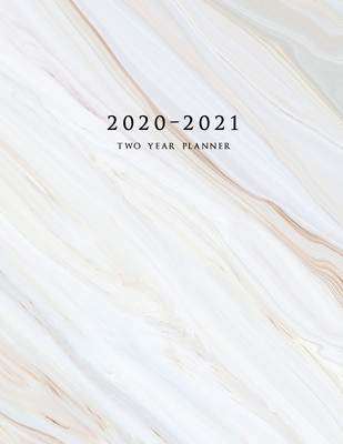 2020-2021 Two Year Planner: Large Monthly Planner with Inspirational Quotes and Marble Cover (Volume 2) Cover Image