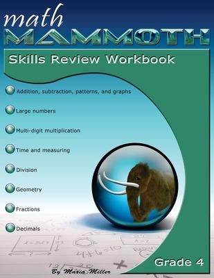 Math Mammoth Grade 4 Skills Review Workbook Cover Image