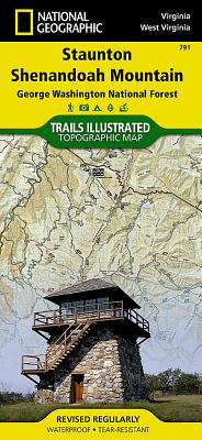 Staunton, Shenandoah Mountain [george Washington and Jefferson National Forests] (National Geographic Maps: Trails Illustrated #791) Cover Image