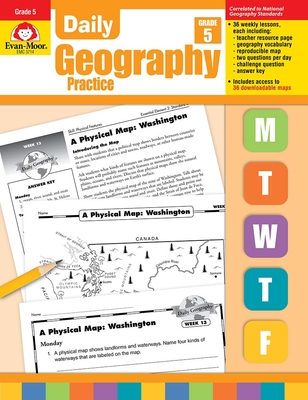Daily Geography Practice Grade 5: EMC 3714 Cover Image