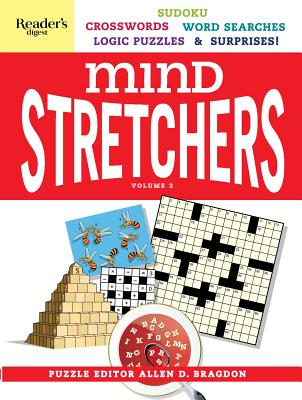 Reader's Digest Mind Stretchers Puzzle Book Vol.2: Number Puzzles, Crosswords, Word Searches, Logic Puzzles & Surprises (Mind Stretcher's #2) Cover Image