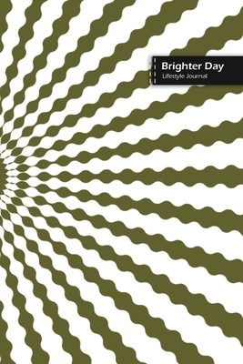 Brighter Day Lifestyle Journal, Blank Write-in Notebook, Dotted Lines, Wide Ruled, Size (A5) 6 x 9 In (Green II) Cover Image