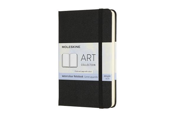 Moleskine Art Watercolour Notebook, Pocket, Black, Hard Cover (3.5 x 5.5) Cover Image