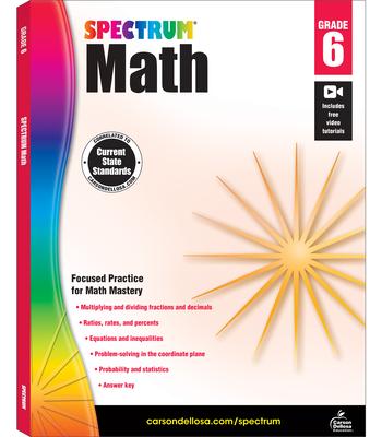 Spectrum Math Workbook, Grade 6 Cover Image
