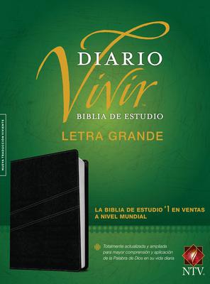 Biblia de Estudio del Diario Vivir Ntv, Letra Grande Cover Image