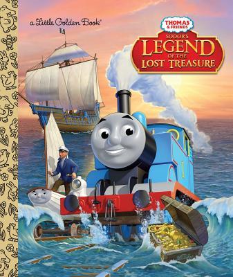Sodor's Legend of the Lost Treasure (Thomas & Friends) (Little Golden Book) Cover Image