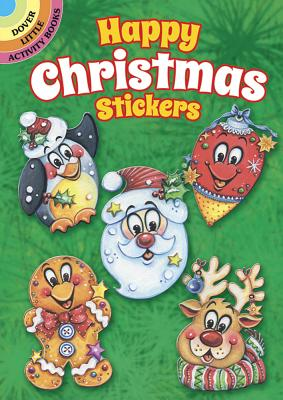 Happy Christmas Stickers (Dover Little Activity Books Stickers) Cover Image