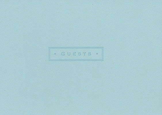 Sea Foam Guest Book Cover Image