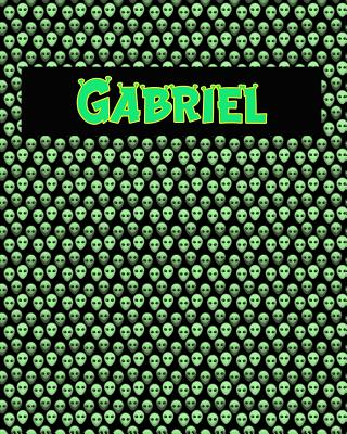 120 Page Handwriting Practice Book with Green Alien Cover Gabriel: Primary Grades Handwriting Book Cover Image