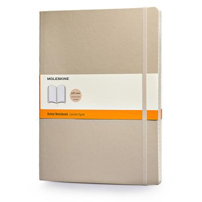 Moleskine Classic Colored Notebook, Extra Large, Ruled, Khaki Beige, Soft Cover (7.5 x 10) Cover Image