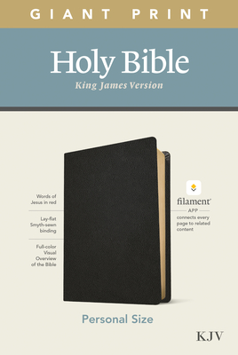KJV Personal Size Giant Print Bible, Filament Enabled Edition (Genuine Leather, Black) Cover Image