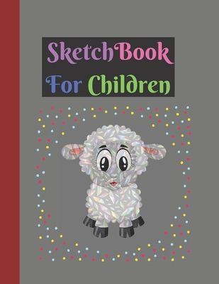 Sketchbook: Cute Large Cute 160 Pages Multicolor Diamond Sheep Design Gifts Sketchbook for Kids . Perfect for Kids Cover Image