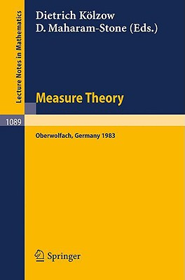 Cover for Measure Theory Oberwolfach 1983