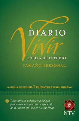 Biblia de Estudio del Diario Vivir Ntv, Tamaño Personal (Letra Roja, Tapa Rústica) Cover Image