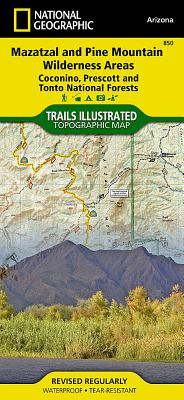 Mazatzal and Pine Mountain Wilderness Areas [Coconino, Prescott, and Tonto National Forests] (National Geographic Trails Illustrated Map #850) Cover Image