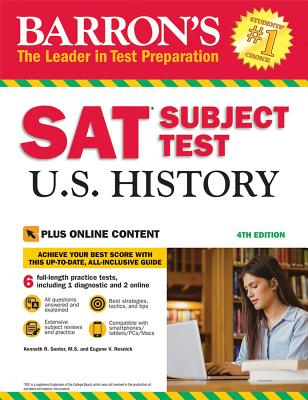 Cover for SAT Subject Test U.S. History with Online Tests