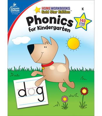Phonics for Kindergarten, Grade K: Gold Star Edition (Home Workbooks) Cover Image