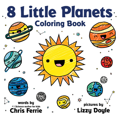 8 Little Planets Coloring Book Cover Image