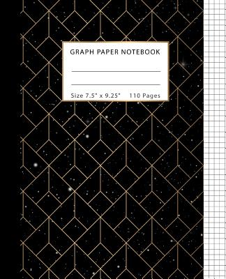 Graph Paper Notebook: Squared Graphing Paper, Quad Ruled 5x5, Composition Notebook for Students, Science Math Mathematics Study Teaching 110 Cover Image