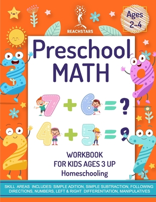 Preschool Math Workbook for Kids Ages 3 and up Homeschooling: Unique Blend of Activities to Learn Basics of Math and Get a Head Start in School Number Cover Image