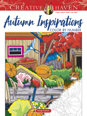 Creative Haven Autumn Inspirations Color by Number (Creative Haven Coloring Books) Cover Image