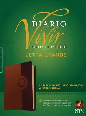 Biblia de Estudio del Diario Vivir Ntv, Letra Grande, Tutone Cover Image