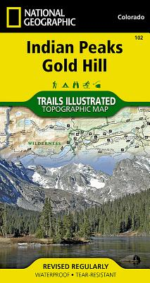 Indian Peaks, Gold Hill (National Geographic Maps: Trails Illustrated #102) Cover Image