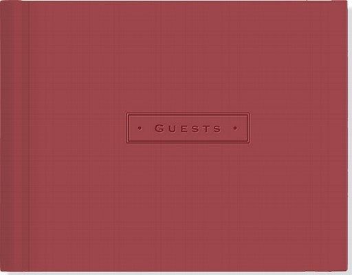 Artisan Guest Book/Burgundy Cover Image