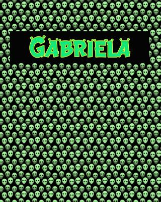 120 Page Handwriting Practice Book with Green Alien Cover Gabriela: Primary Grades Handwriting Book Cover Image