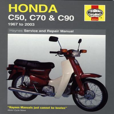 Honda C50, C70 & C90: 1967 to 2003 (Haynes Service & Repair Manual) Cover Image