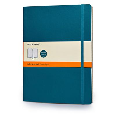 Moleskine Classic Colored Notebook, Extra Large, Ruled, Underwater Blue, Soft Cover (7.5 x 10) Cover Image