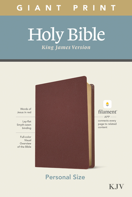 KJV Personal Size Giant Print Bible, Filament Enabled Edition (Genuine Leather, Burgundy) Cover Image