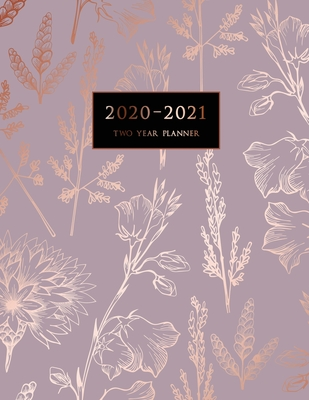 2020-2021 Two Year Planner: Large Monthly Planner with Inspirational Quotes and Marble Cover (Volume 4) Cover Image