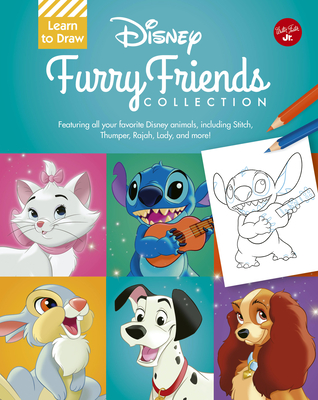 Learn to Draw Disney Furry Friends Collection: Featuring all your favorite Disney animals, including Stitch, Thumper, Rajah, Lady, and more! (Licensed Learn to Draw) Cover Image