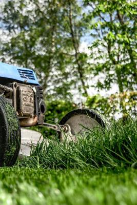 Lawnmowing Notebook Cover Image