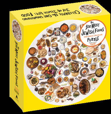 The 100 Most Jewish Foods: 500-Piece Circular Puzzle (Artisan Puzzle) Cover Image
