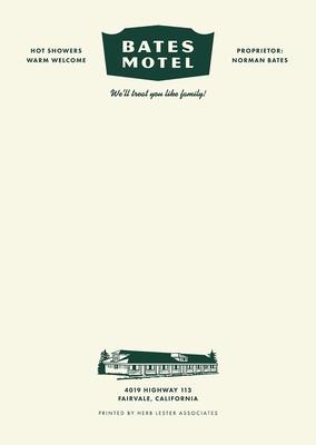 Bates Motel: Fictional Hotel Notepad Set Cover Image