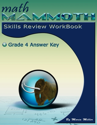 Math Mammoth Grade 4 Skills Review Workbook Answer Key Cover Image