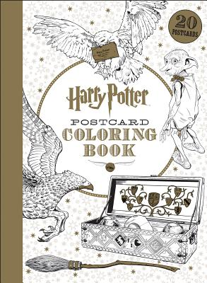 Harry Potter Postcard Coloring Book Cover Image