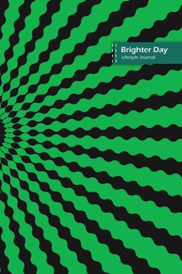 Brighter Day Lifestyle Journal, Blank Write-in Notebook, Dotted Lines, Wide Ruled, Size (A5) 6 x 9 In (Green III) Cover Image