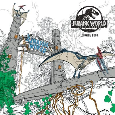 Jurassic World: Fallen Kingdom Adult Coloring Book Cover Image